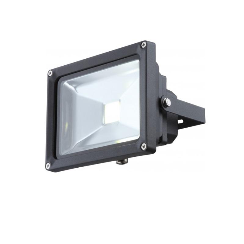 Schwenkbarer 20Watt LED-Baustrahler in dunkelgrau