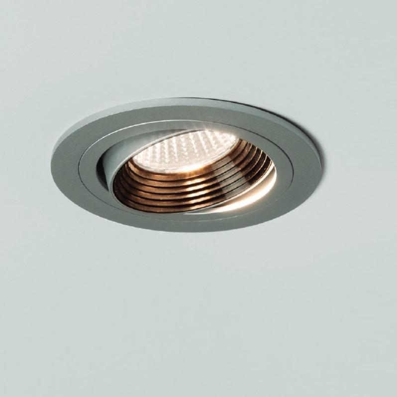 Illumina - Astro Schwenkbarer LED-Einbaustrahler in alu, rund Aprilia 5692   Lampen > Strahler und Systeme > Einbaustrahler   Illumina - Astro
