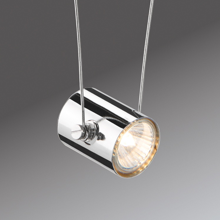 Paulmann Seilsystem Komplett-Set in Chrom, 2 x 5 m - 5 dekorative Halogen-Spots - Inklusive Trafo 940.59 | Lampen > Strahler und Systeme > Seilsysteme | Paulmann
