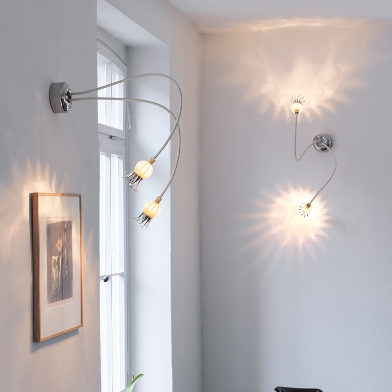 Serien-Lighting 2-flammige Wandleuchte Poppy