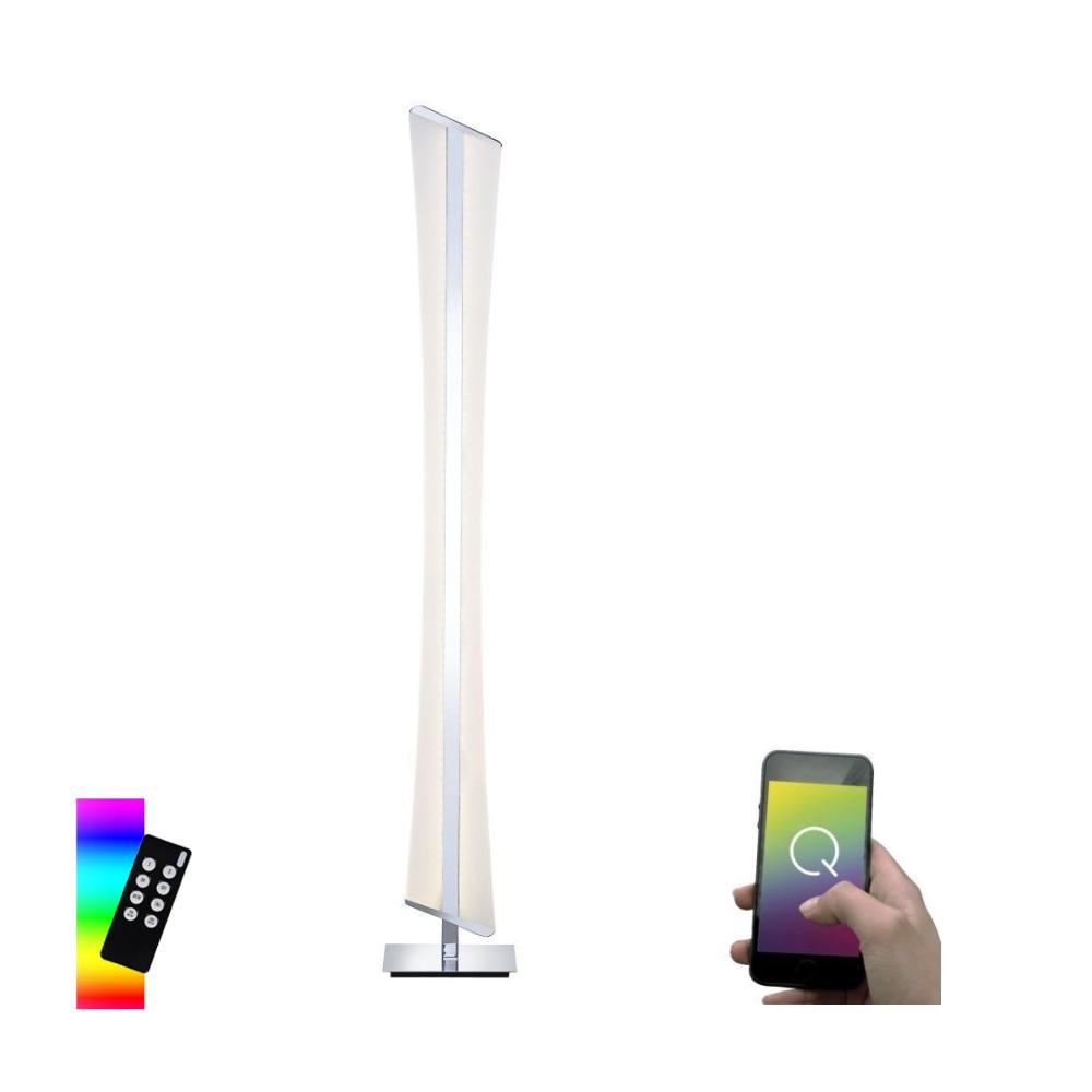 Smart Home Stehleuchte Q®-RILLER Farbwechsel
