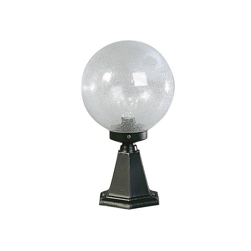 Albert Sockelleuchte aus Aluminium schwarz mit klarem Blasenglas schwarz 660501 | Lampen > Aussenlampen > Sockelleuchten | Schwarz - Weiß | Aluminium | Albert