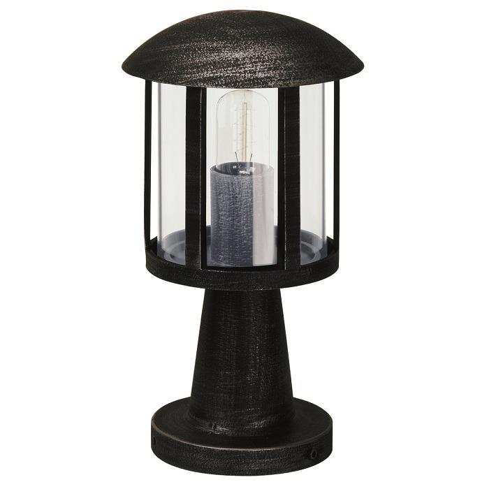 Albert Sockelleuchte aus Aluminiumguss, schwarz-silber, Höhe 40cm schwarz/silber 600542 | Lampen > Aussenlampen > Sockelleuchten | Schwarz - Braun - Weiß - Gold | Glas - Messing | Albert