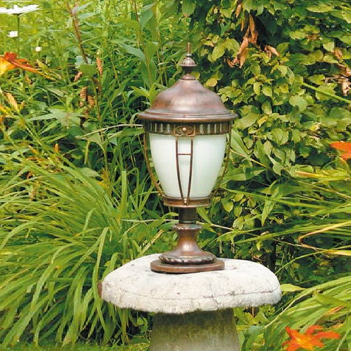 Robers Leuchten Sockelleuchte aus Schmiedeeisen Patina-Lackierung AL6613 | Lampen > Aussenlampen > Sockelleuchten | Lackiert | Robers Leuchten