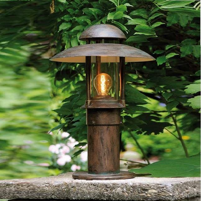 Robers Leuchten Sockelleuchte handgefertigt aus Schmiedeeisen, H 50cm AL6523-K | Lampen > Aussenlampen > Sockelleuchten | Robers Leuchten