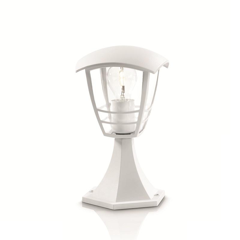 Philips Sockelleuchte in Weiß mit klarem Acrylglas weiß, A++ - E 15382/31/16 | Lampen > Aussenlampen > Sockelleuchten | Weiß - Schwarz | Aluminium - Kunststoff | Philips