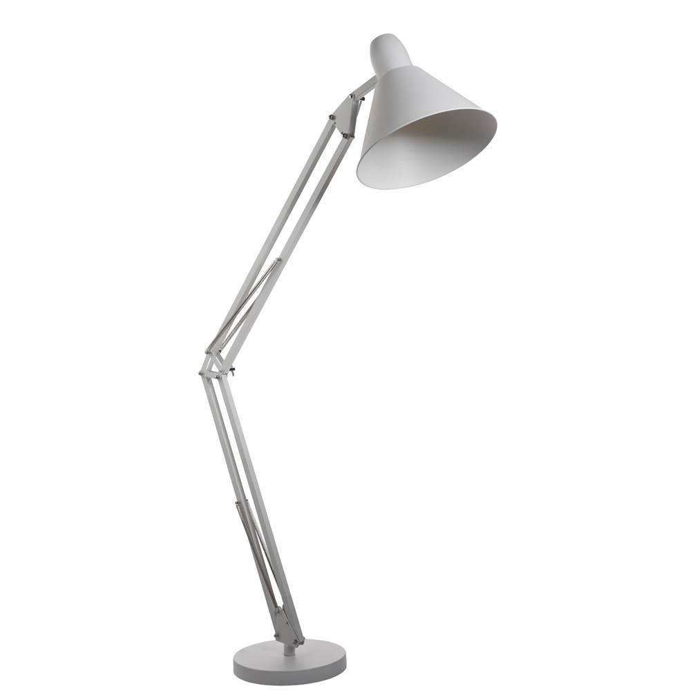 Stehleuchte Goliath II aus Metall in Weiß