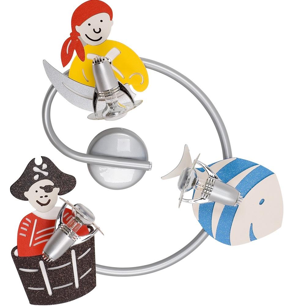 Strahlerspirale Pirate für das Kinderzimmer 3-flammig
