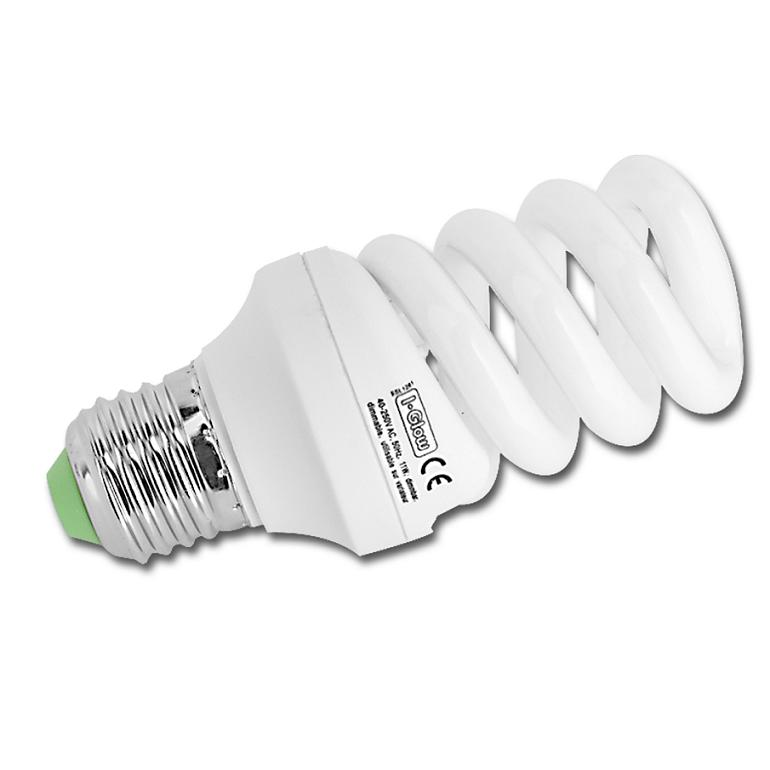 LHG Energiesparlampe Spiralform - E27 20 Watt -...
