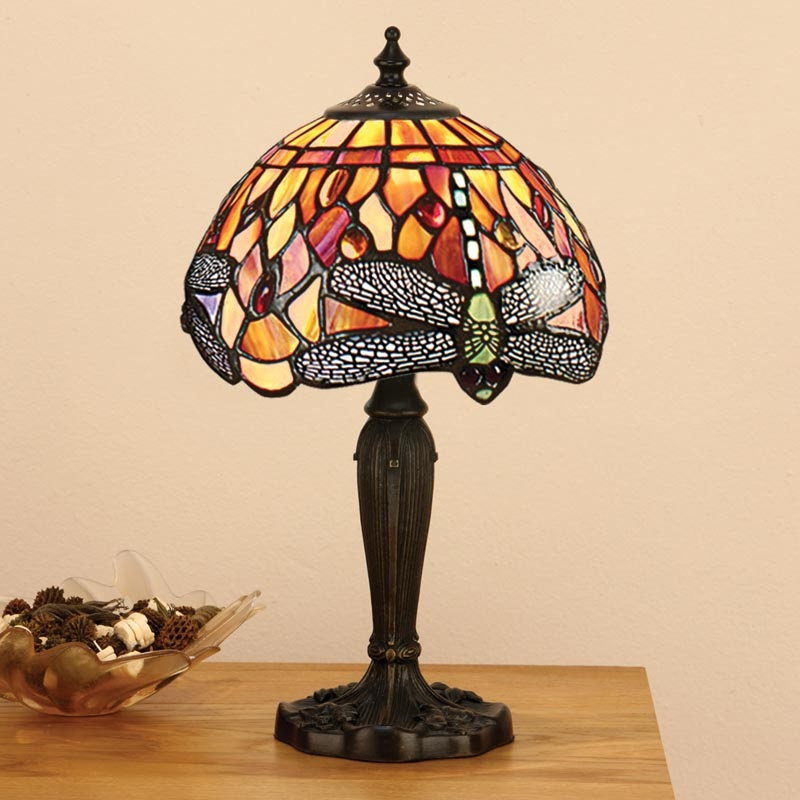 Tiffany Tischleuchte Flame Dragonfly - Small