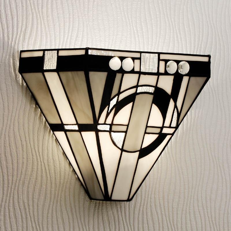 Tiffany Wandleuchte Metropolitan im Art Deco Stil