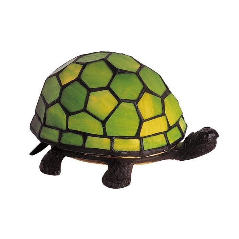 Artistar Tiffany-Dekoleuchte Schildkröte in Grü...