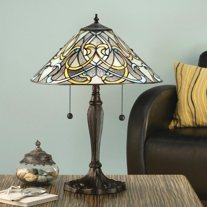 Tischleuchte Dauphine im Tiffany Stil