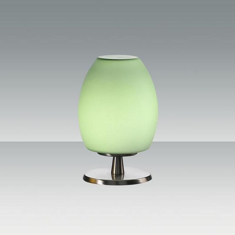 Fabas Tischleuchte mit Glasschirm in grün Rockf...