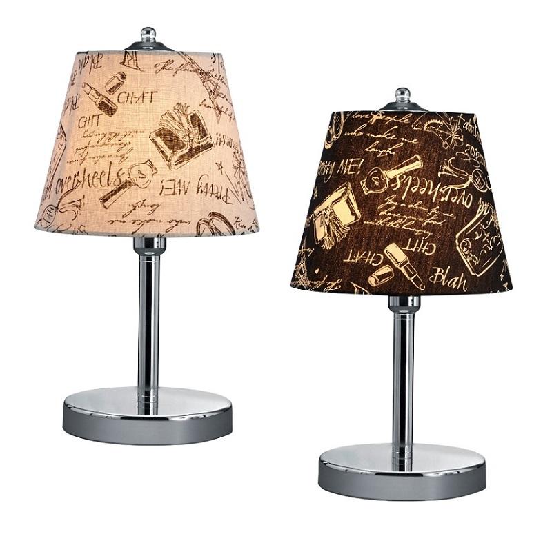 Tischleuchte mit Lampenschirm mit Verzierungen