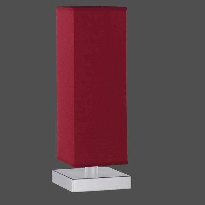 LHG Tischleuchte in rot inklusive 28W E14 Halogen Kerzen 3er Pack