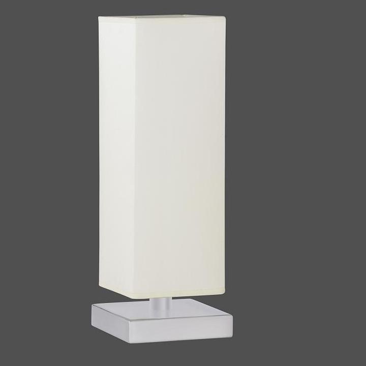 LHG Tischleuchte in weiß inklusive 28W E14 Halogen Kerzen 3er Pack