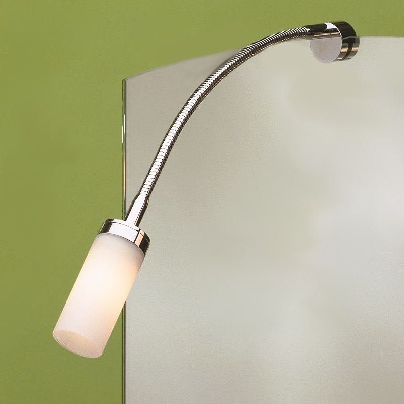 Top Light Top Light Spiegelklemmleuchte Flexlight Fix, Kopf Pisa, Nickel-matt, 40cm Flexlight Nickel-matt, 40,00 cm 3-2040203 | Lampen > Tischleuchten > Leseleuchten | Chrom - Matt | Aluminium | Top Light