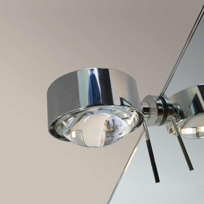 Top Light Top Light Spiegelklemmleuchte Puk Fix »+« drehbar in Nickel-matt Puk Nickel-matt, vernickelt 2-08033 | Lampen > Tischleuchten > Leseleuchten | Matt - Chrom | Glas | Top Light