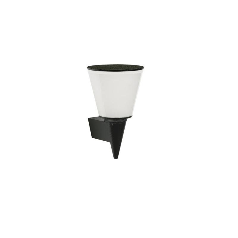 Albert Trichterförmige LED-Wandleuchte, schwarz...