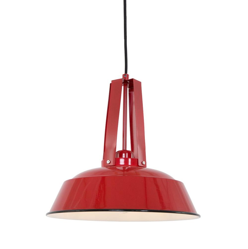 Vintage-Style Pendelleuchte aus Stahl Ø 34cm Farbe rot