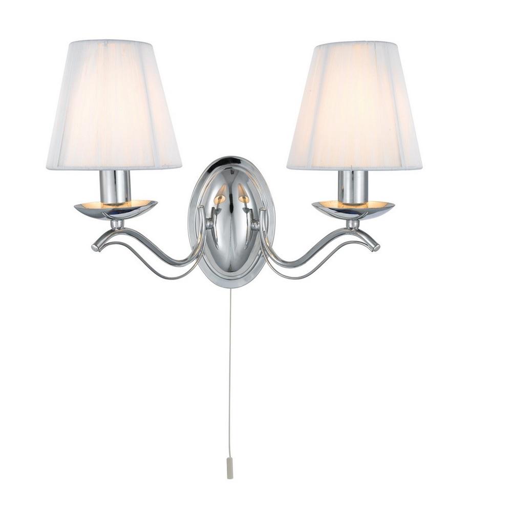 Wandleuchte mit Stofflampenschirmen 2 Oberflächen