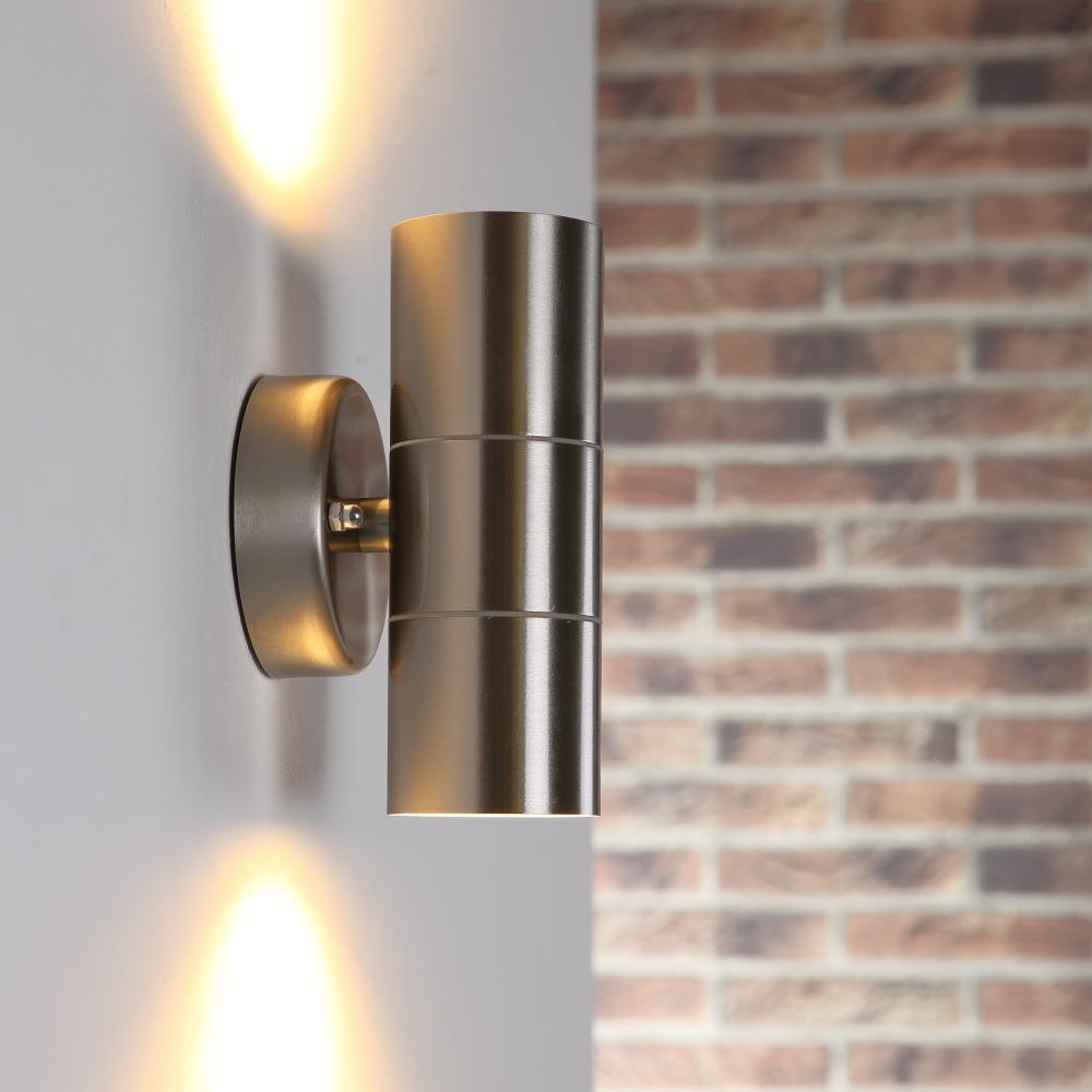 LHG Wandleuchte Außen, Edelstahl, Up & Down, inkl. 2 x 5 Watt LED