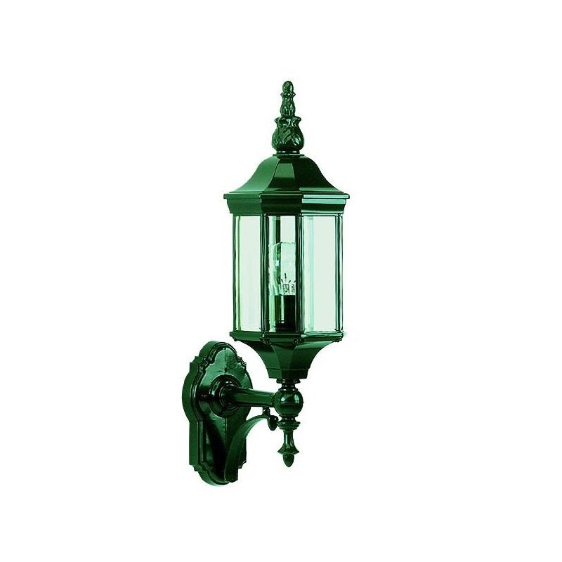 Wandleuchte mit echtem Facettenglas - dunkelgrün