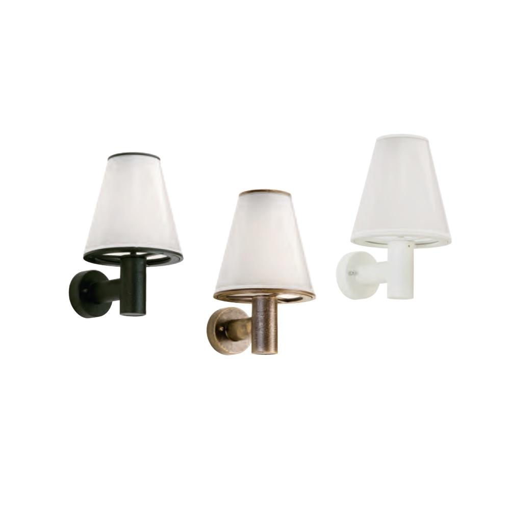 Wandleuchte mit Schirm aus Acrylglas, 3 Varianten