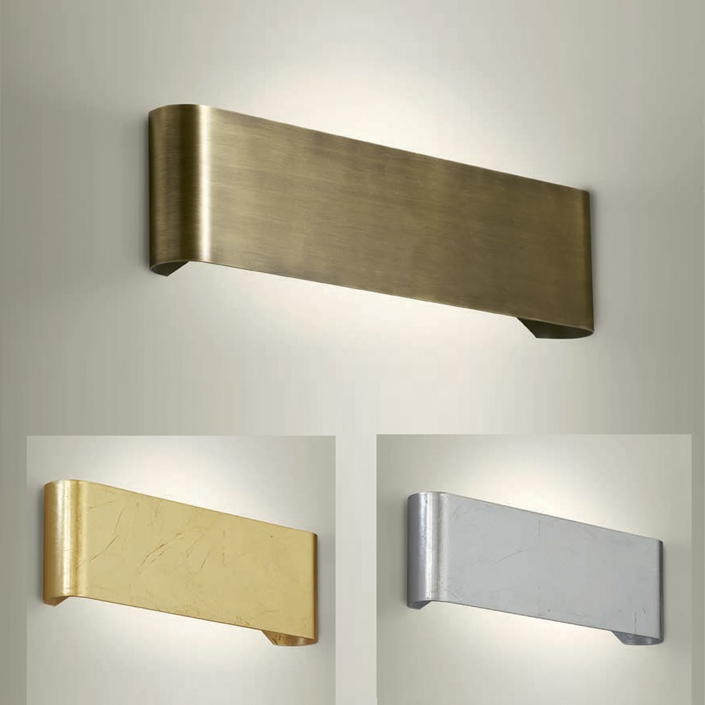 Wandleuchte, up and down, Metall, 38cm lang, 3 Oberflächen
