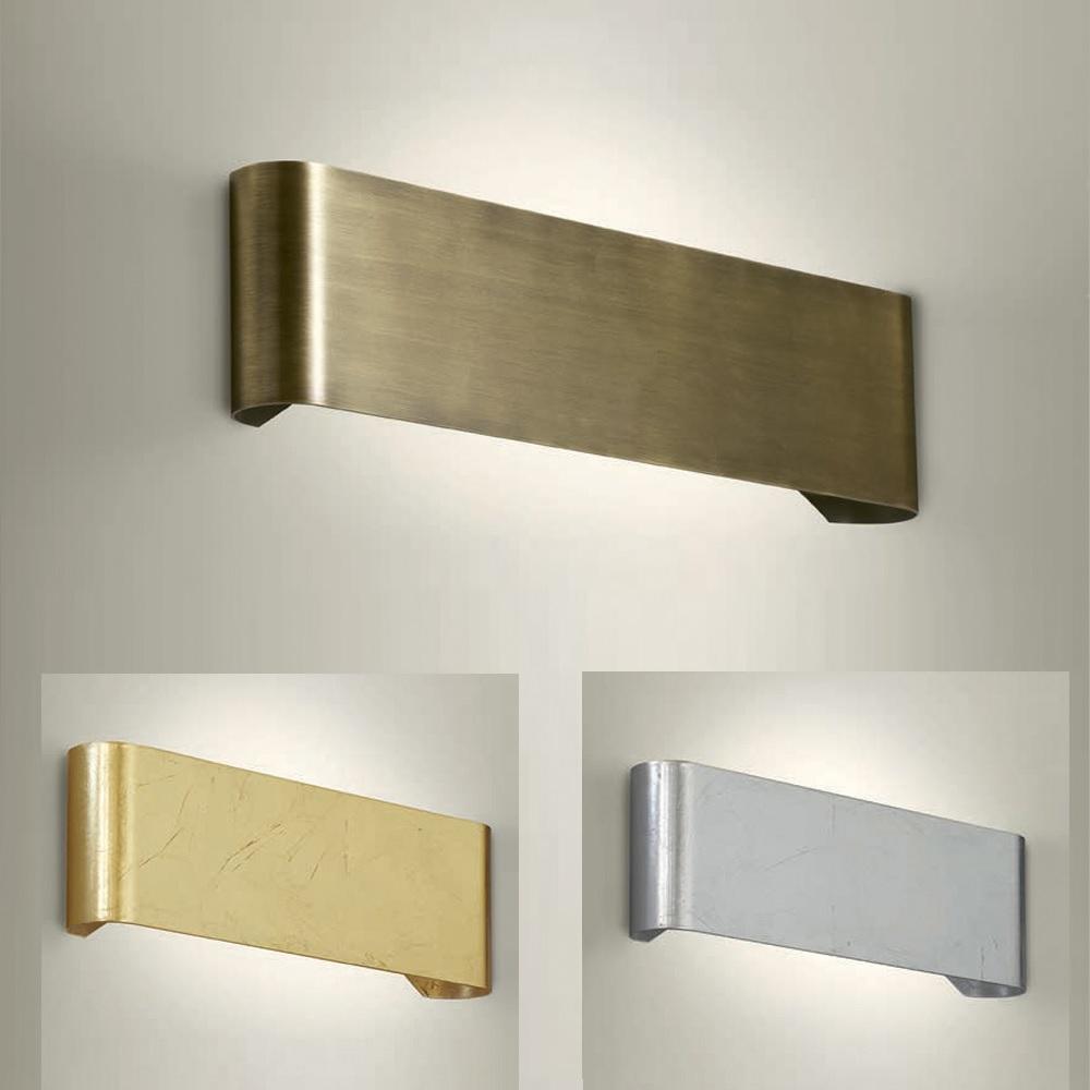 Wandleuchte, up and down, Metall, 48cm lang, 3 Oberflächen