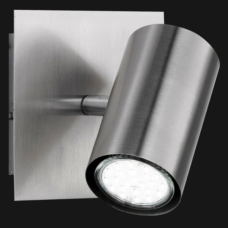 LHG Wandspot, modern, Nickel-matt, schwenkbar, inkl. GU10 5W LED