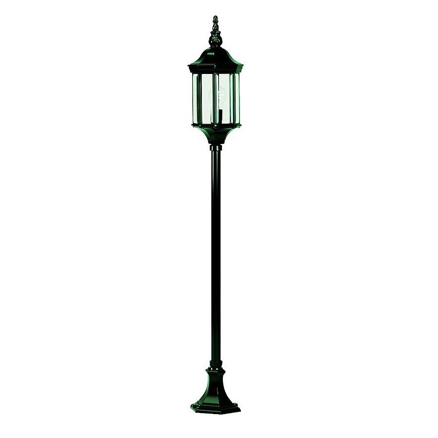 Wegeleuchte in dunkelgrün mit Facettenglas