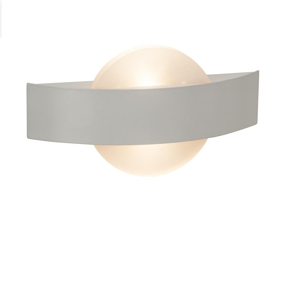 Weiße Wandleuchte mit LED-Licht, 2x3,5Watt