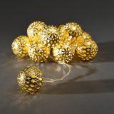10x 0,06 Watt, gold, 120,00 cm