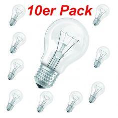 15 - 100 Watt ,  klares Leuchtmittel E27 im 10er Pack