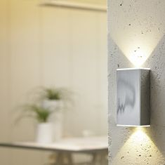 up & downlight LED-Wandleuchte in Chrom