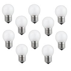 10er Set E27 Glühlampe Tropfen 60 Watt opal weiß