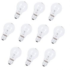 10er Set E27 Glühlampe 150W klar