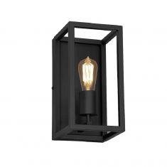 Wandleuchte Frame schwarz - 1 flammig 1x 60 Watt, schwarz, 30,00 cm, 15,00 cm, 17,00 cm, 1-flammig