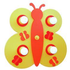 Schmetterling Kinderzimmerlampe in gelb / orange
