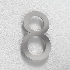 Hausnummer 8 aus Edelstahl Hausnummer 8