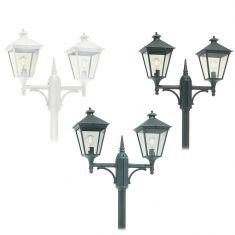 Höhenverstellbarer 2-flammiger Laternenmast in 3 Farben