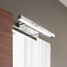 Spiegelleuchte in matt  Silberfarbig- inklusive Leuchtstoffröhre 24W