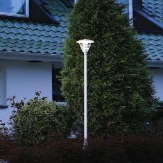 1-flammiger Mast im klassischen Stil in matt weiß oder matt schwarz