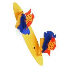 2-flammige Kinderlampe mit Fisch-Applikationen