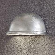 Aussenwandleuchte mit Downlight - verzinkt - Breite 20cm Kunststoff/Metall, silber, verzinkt