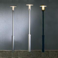 1-flammige Mastleuchte in 3 Farben mit klarem Acrylglas - Höhe 221cm
