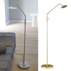 1-flg. LED-Leseleuchte Twin in Messing oder Nickel-matt