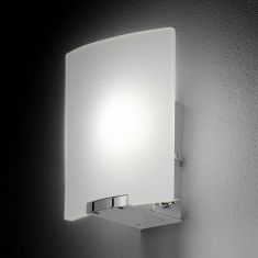 1x4 Watt Power-LED-Wandleuchte mit Schalter in Chrom glänzend, warmweiß 3000K, 300lm